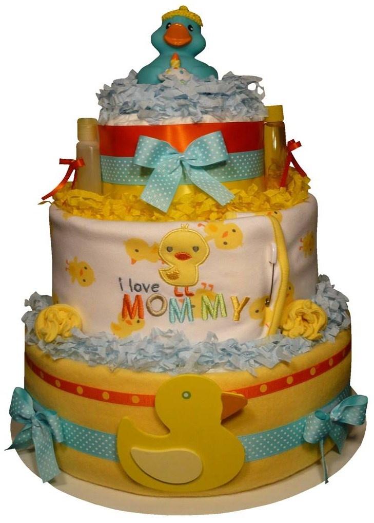 Cute Ducky Diaper Cake
