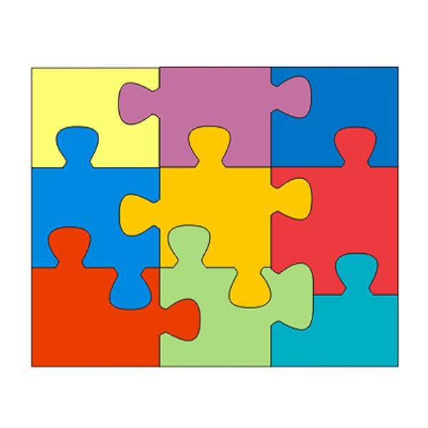 puzzle pieces template | shapes ai puzzle jigsaw piece | My style ...