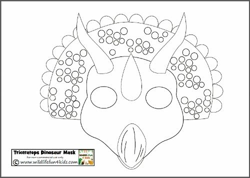 Awesome Dinosaur Mask Template Vignette - Resume Ideas - namanasa.com