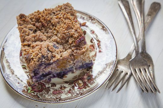 Peach and Blueberry Coffee Cake | Coffee Cake Recipe | Eat the Love A ...
