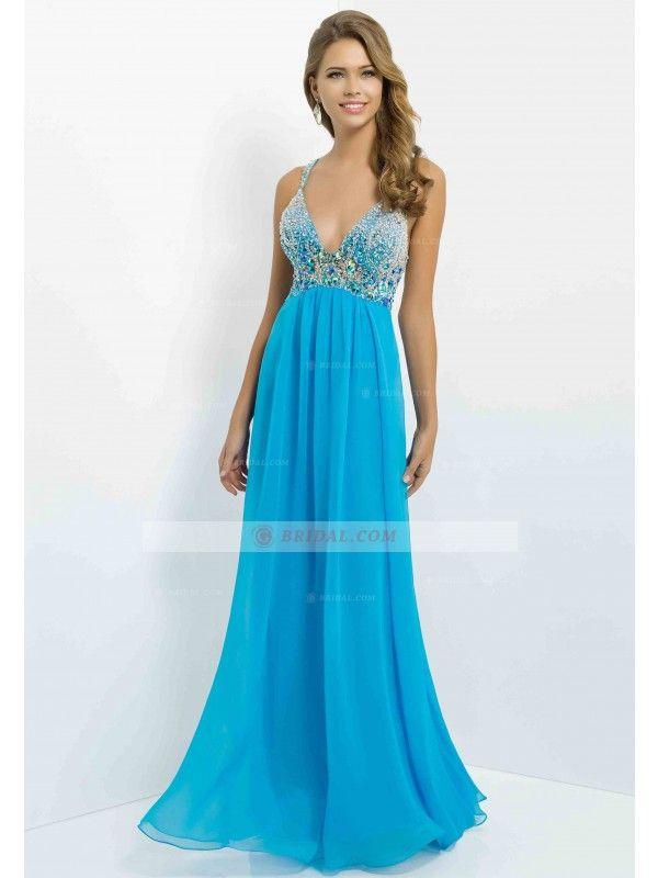 ... Straps X-back Floor-Length Chiffon Sleeveless Graduation Dresses