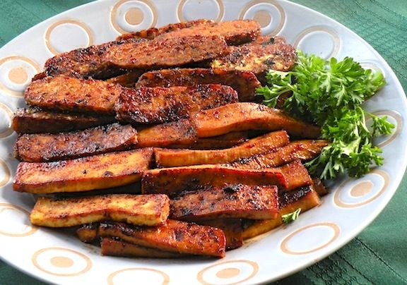 Sweet and Smoky Tofu or Tempeh Strips | Just Tofu | Pinterest
