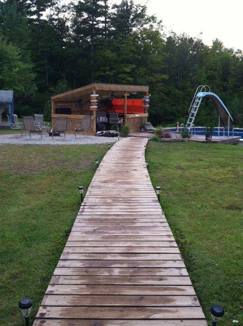 Wooden Walkway In The Garden Pinterest