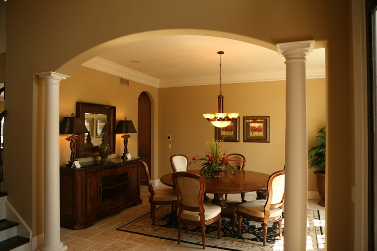 Dining room columns for the home pinterest for Dining room designs with pillars