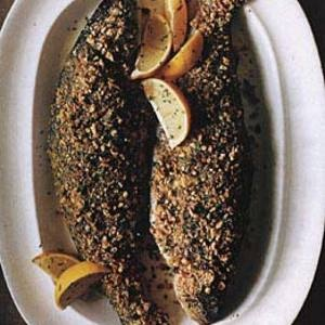 Hazelnut-Crusted Trout sounds fancy, but it's a cinch to put together ...