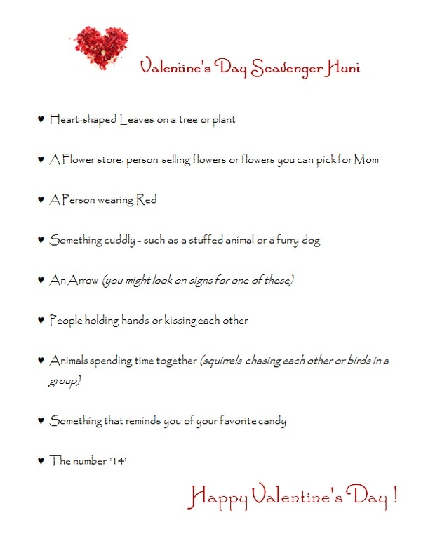valentine's day scavenger hunt ideas for her