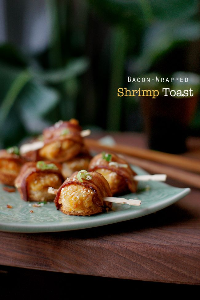 BACON WRAPPED SHRIMP TOAST from Joylicious (a fun blog); practically ...