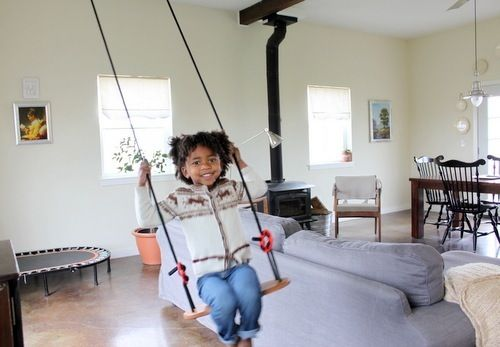 A Swing In The Living Room Home Pinterest