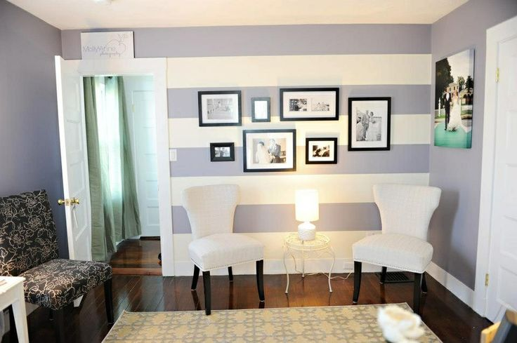 Benjamin moore bunny gray wall stripes for the home for Bunny gray benjamin moore