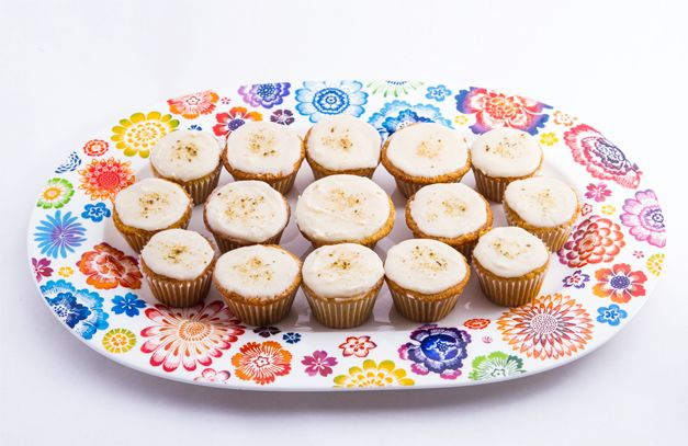 Fair Trade Chamomile Cupcakes with Honey Glaze..YUM! I substituted ...