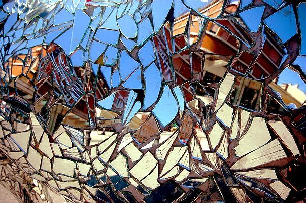 Reflection in broken glass refractions reflections pinterest