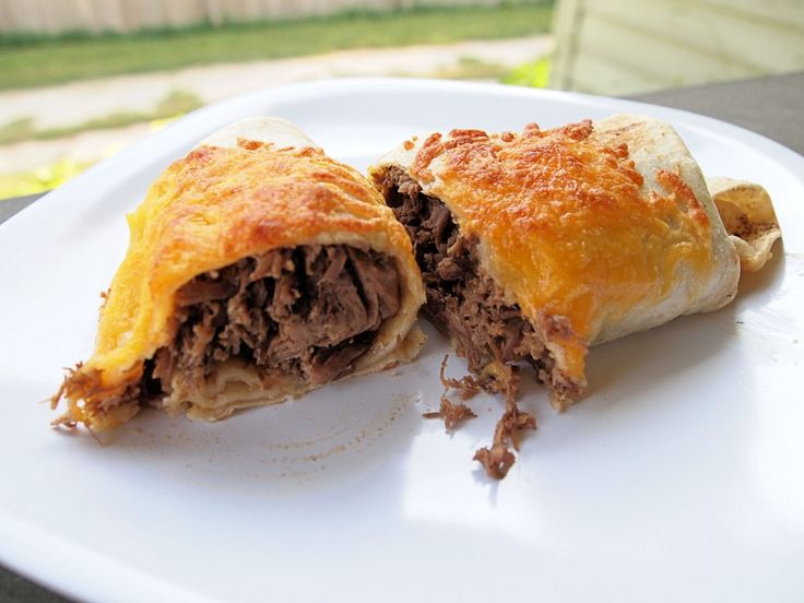 Shredded Beef Chimichangas | Recipe