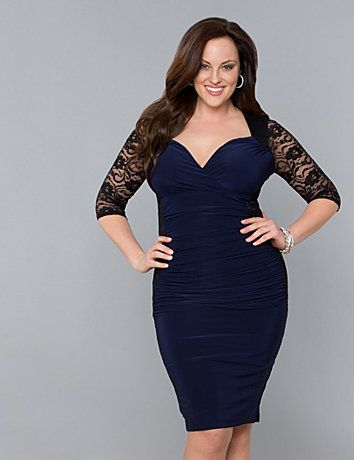 plus size dresses knee length