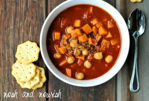 Sweet Potato Chickpea Chili with Quinoa | Nosh and Nourish