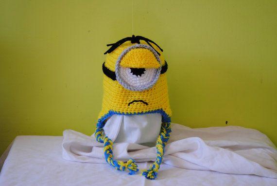 Amigurumi Earflap Hat : Crochet Minion Hat, Amigurumi, Despicable Me, handmade ...
