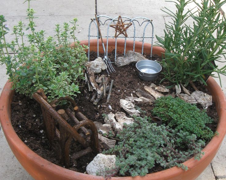 rustic mini herb garden gardens outdoor spaces pinterest