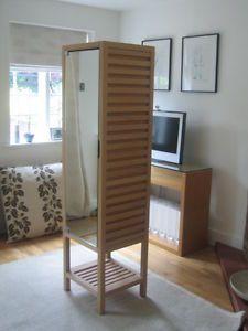 habitat solid wood sento narrow bathroom cabinet storage cupboard