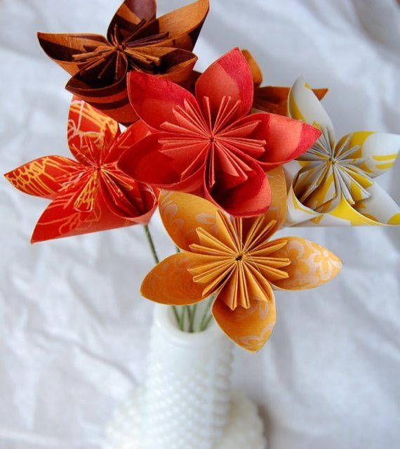 Origami Wedding Flowers Origami Flower Ideas Pinterest
