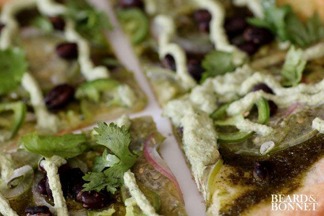 Fiery Pesto Pizza: Gluten + Dairy Free - Beard + Bonnet