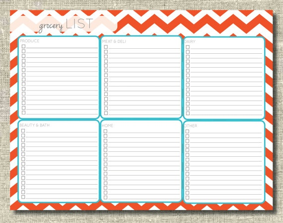Printable Grocery Shopping List | New Calendar Template Site