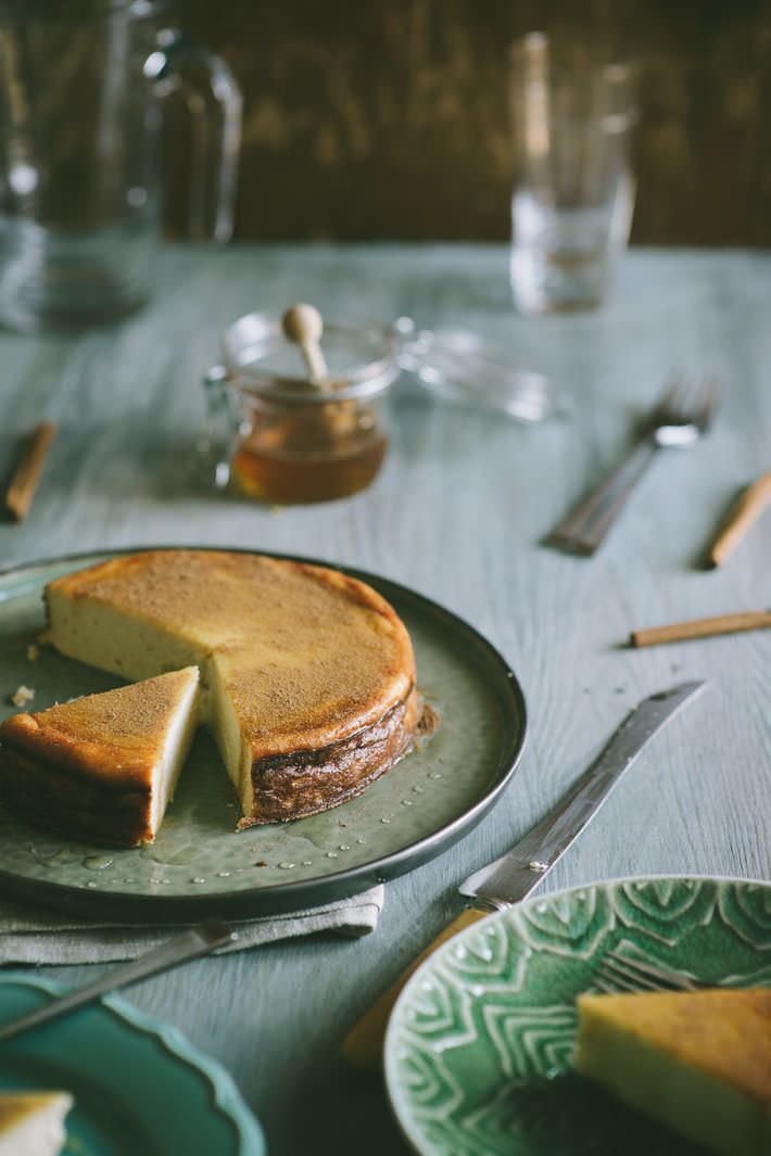 Melopita from Sifnos (Souvlaki For The Soul) - Honey cheese cake