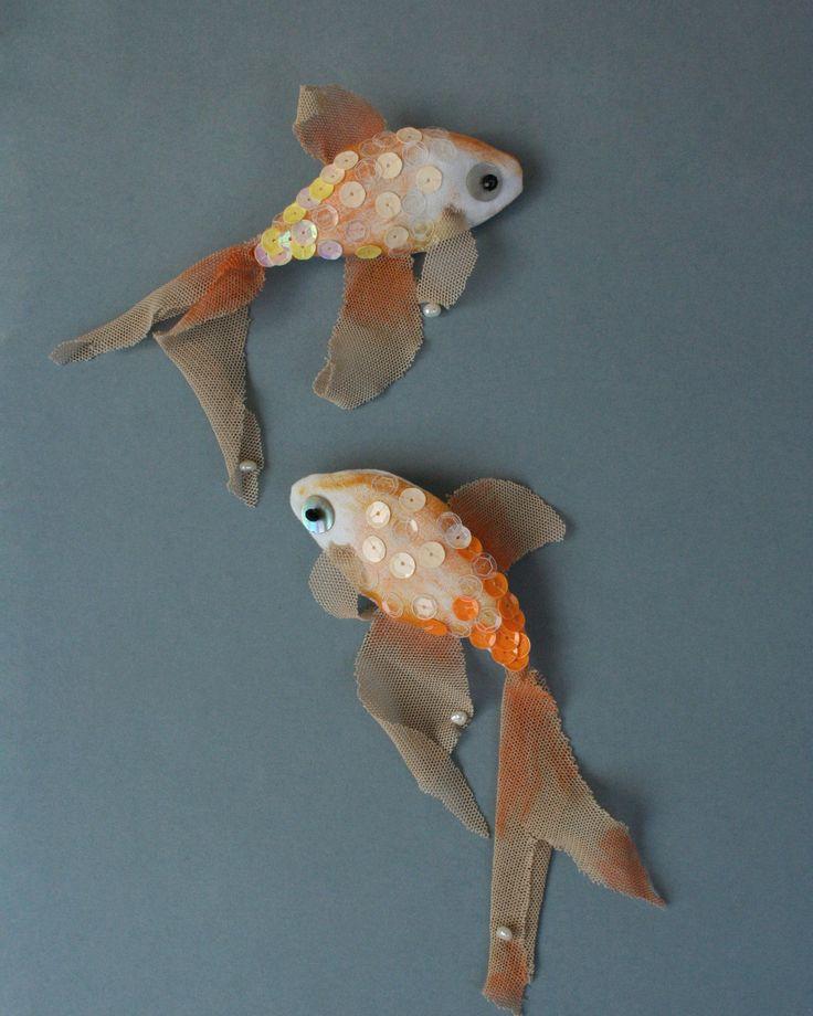 Брошь рыба своими руками 35