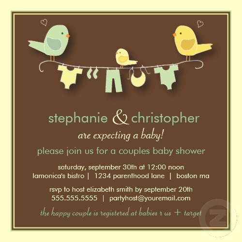 couples baby shower invitation gender neutral baby shower pintere