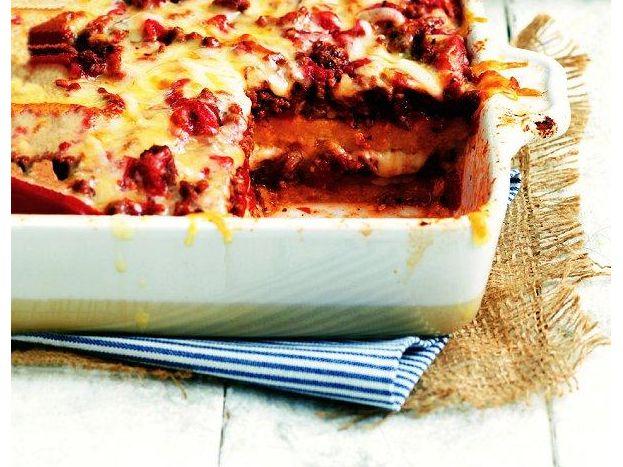 Easy Polenta Lasagna I iVillage.ca | Clean Eats | Pinterest