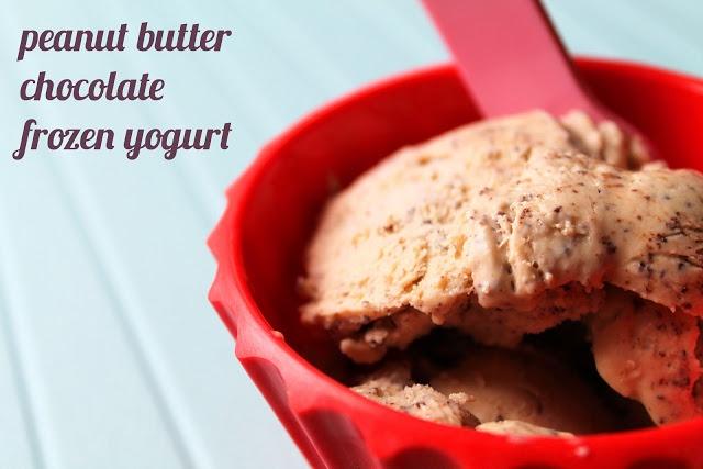 Peanut butter chocolate frozen yogurt | Recipe
