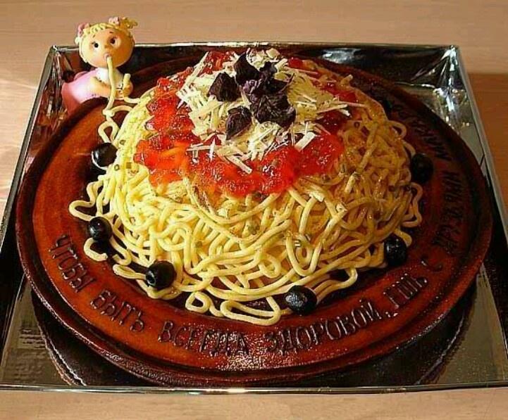 Amazing spaghetti cake | Cake | Pinterest