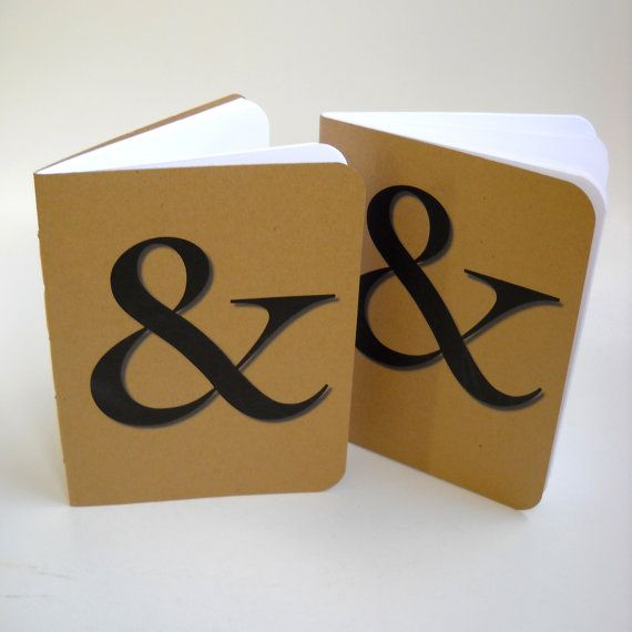 Two ampersand notebooks for Ampersand decoration etsy
