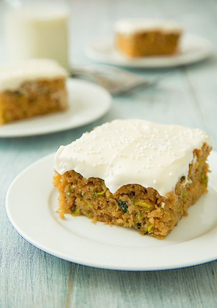 Zucchini Cake with Cream Cheese Frosting | Desserts to Die for | Pint ...