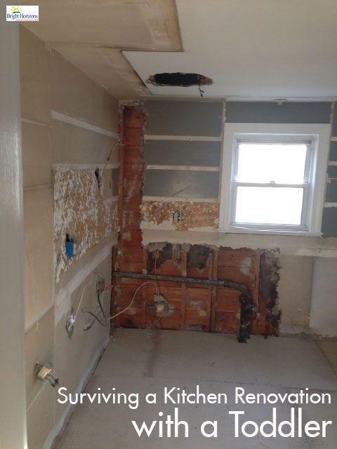 survive during kitchen renovation