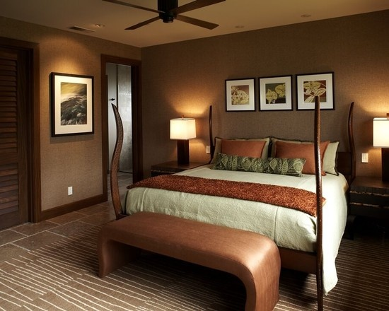 Dark trim bedroom bedrooms pinterest for Dark wood bedroom ideas