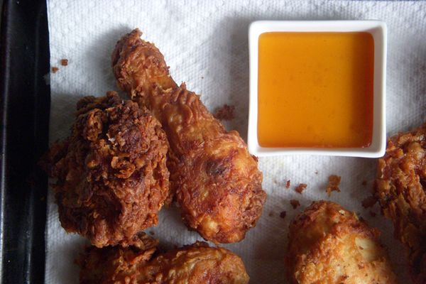 Peanut Butter Fried Chicken. Chicken is marinated in a mixture of PB ...