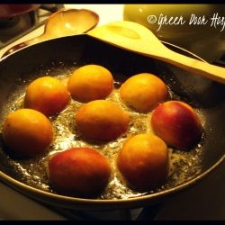 Bourbon-Seared Peaches recipe | Homemade & To Die For | Pinterest