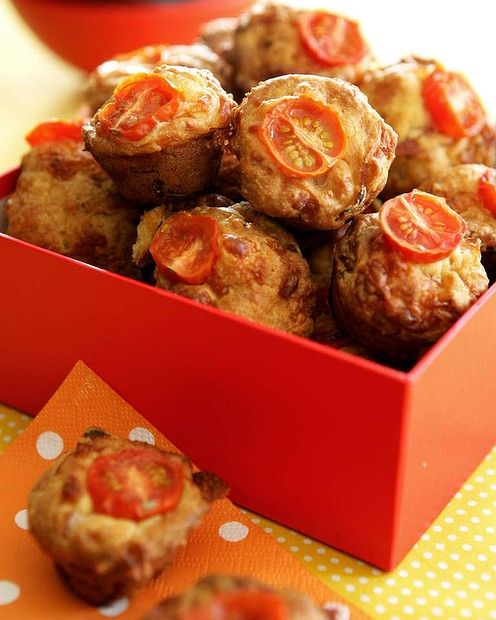 Bite-size ham and cheese muffins   Breads, Cakes, Muffins, Scones and ...