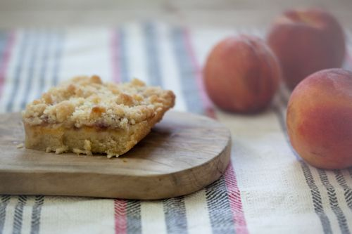 ... perfectly delicious dessert this season: Peach Shortbread #summerfest