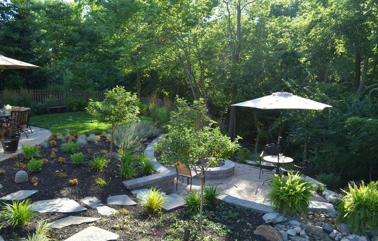 Sloped Backyard Ideas : sloped backyard