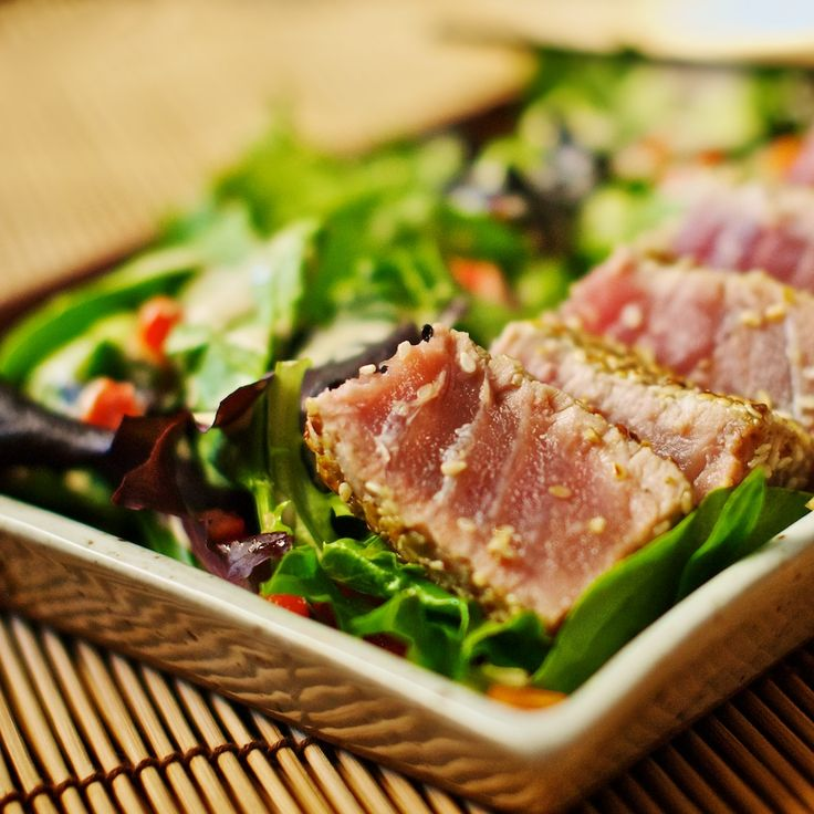 Seared Tuna with Mixed Greens and Lemon-Tahini - a favorite meal of ...