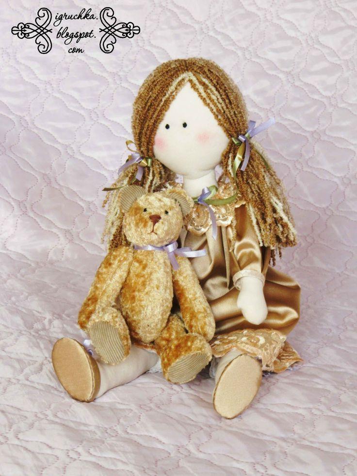 Мои любимые игрушки. Авторские текстильные куклы Анны Балябиной: Выкройка куклы