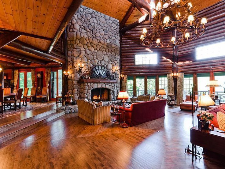 Log Cabin Great Room Wow Rooms To Love Pinterest