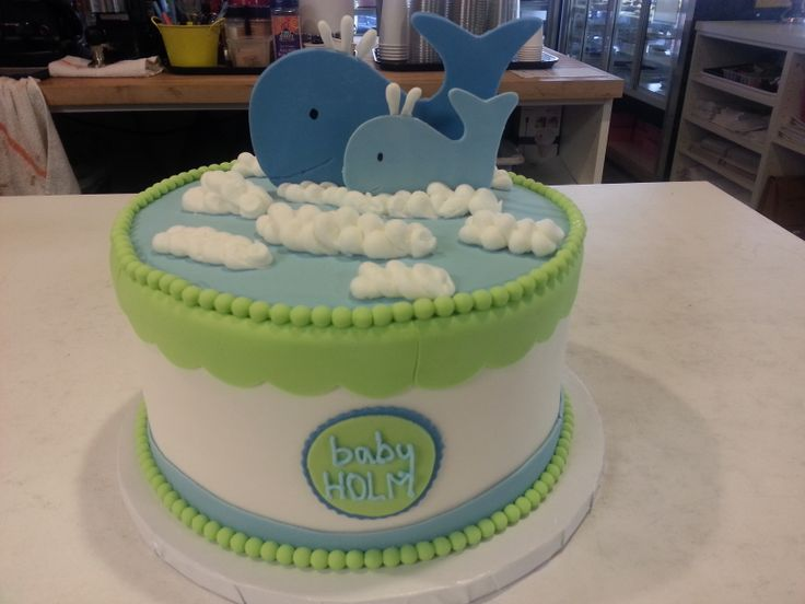 baby shower whale cake baby showers pinterest