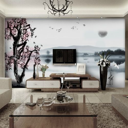 Chinese wall paper oog4 interior design pinterest for Meuble mural wall