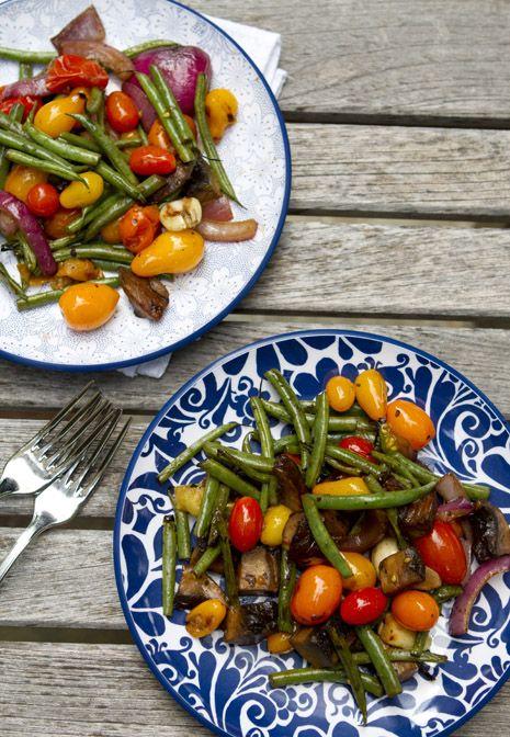 Balsamic Grilled Vegetables Recipe   FamilyFreshCooking.com © MarlaMeridith.com