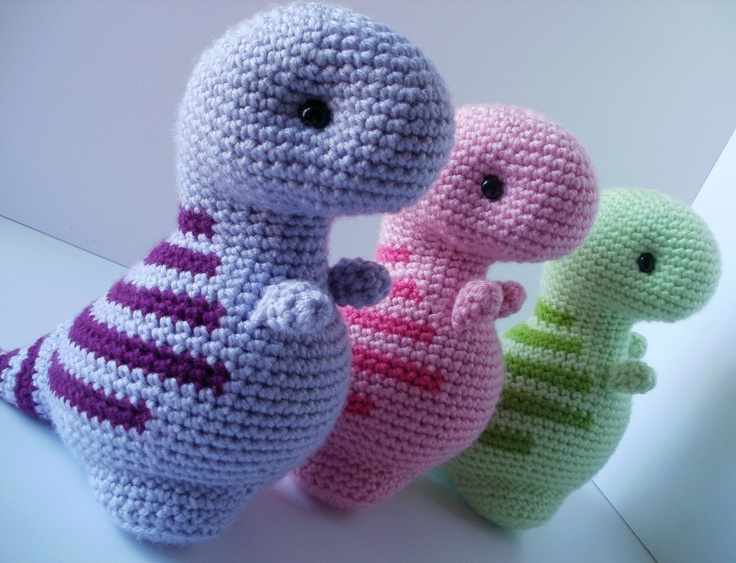 Crochet Patterns Free Doll Clothes : Crochet Pattern: Timothy the T-Rex