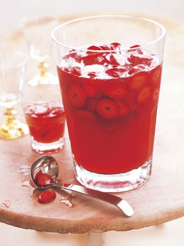 prosecco, strawberry and peach punch. | Favorite Recipes | Pinterest