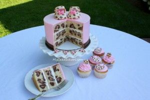 The way to every girls heart = cake + leopard print