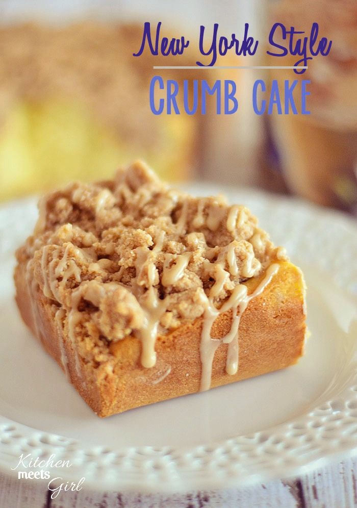 This New York Style Crumb Cake is tender, fluffy and buttery, and ...