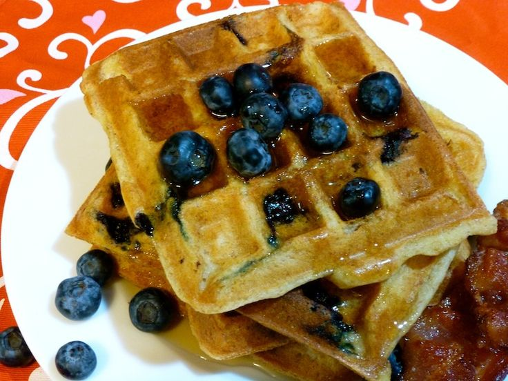 Gluten+Free+Dairy+Free+Blueberry+Waffles